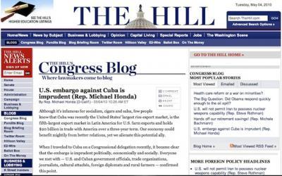 IMPRUDENTE el bloqueo de EEUU contra Cuba
